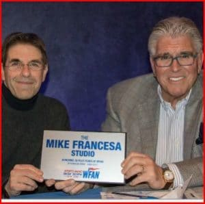 Mark Chernoff (l) with Mike Francesa